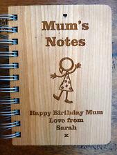 Personalizado Mamá'S Portátil Journal: Madera Grabada Personalizada (libro de recetas Regalo)