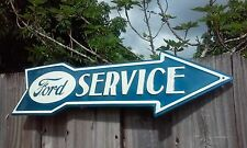 FORD SERVICE METAL SIGN RAISED LETTERS 20 BY 5 INCHES VINTAGE LOOKING GARAGE