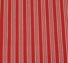 """1 yd 22"""" Collection of Edelin Wille Marcus Brothers Red Off-White Stripe"""