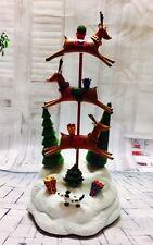 Stacked Reindeer Christmas Figurine Musical - San Francisco Music Box
