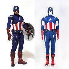 The Avengers Captain America Steve Rogers Cosplay Costume Full Set Custom Made