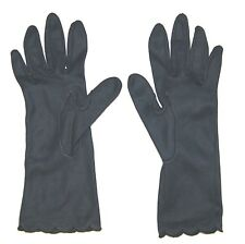 Vintage Gloves - FOWNES Ladies Navy Blue Nylon Driving Gloves - Size 6 1/2