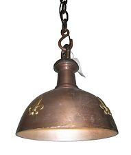 Edle Deckenlampe Vintage Industrie 35cm Durchmesser Kupfer Gold Kette Antik NEU