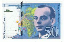BILLET NEUF SUP 50 FRANCS ST EXUPERY 1992  ACCENT SUR LE E DE EXUPERY