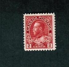 1911  #  106 **  VFNH TIMBRE CANADA STAMP  - GEORGE V ADMIRAL ISSUE - CARMINE