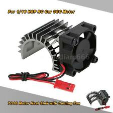 7016 Motor Heat Sink With Cooling Fan for 1/16 HSP RC Car 380 Motor Grey X7O4