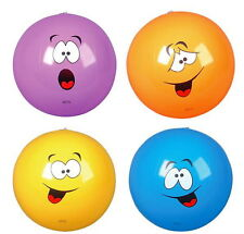 "LOT OF 4 FUNNY SILLY FACE 16"" BEACH BALLS BEACHBALL BALL POOL PARTY FREE SHIP!!"