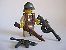 Lego Custom FRENCH INFANTRY Minifigure WWII Soldier W/ Brickwarriors Weaponry