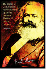 KARL MARX ART PHOTO PRINT POSTER GIFT COMMUNISM QUOTE SOCIALISM