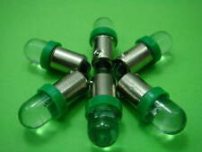 5 x BA9s 1895 H6W 53 57 Bayonet LED Light Bulbs GREEN