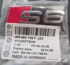 Car Chrome Grille Badge Emblem Genuine OEM 'S6' for Audi C6 RS6 C7 Quattro 2006+