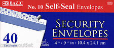 "40 Peel & Self-Seal White Letter Mailing Long Security Envelopes 4-1/8"" x 9-1/2"""