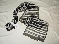 New Women's Liz Claiborne Black & White Silk Scarf - One Size - NWT ($30)