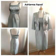 ADRIANNA PAPELL Silk Designer Suit Dress Wedding - Size 6 - NWOT