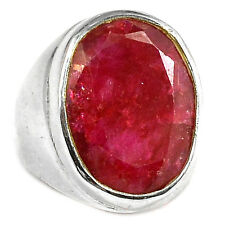 Indian Ruby 925 Sterling Silver Ring Jewelry s.6 RBYR1521