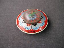VINTAGE JAPAN TIN & PLASTIC UFO FRICTION ROULETTE WHEEL