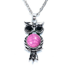 NEW Women Vintage Crystal Owl Pendant Necklace Long Chain Rhinestone Jewelry B2