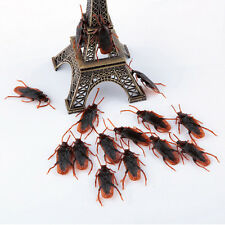 10Pcs Funny Halloween Joke props Fake Rubber Plastic Cockroaches Toy