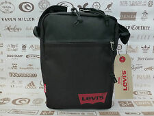 LEVI'S Mini Body Bag SMALL Canvas Side Shoulder Bags Black Messenger Sack BNWT