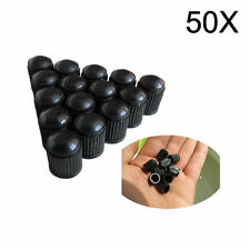 50x Black Plastic Car Truck Auto Wheels Tire Valve Stems Caps Lid Air Dust Cover