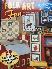 Folk Art Fun New Book Mini Quilts 29 Quick Easy Ideas Crafts Folk Art Sewing
