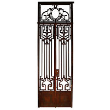 Antique French Wrought Iron Entry Doors with Greek Key  #5903