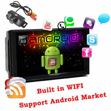 7''HD 2Din Android 4.4 4-Core Autoradio GPS Wifi Car Stereo Player RDS BT+Camera