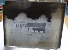VTG LOT OF 4 GLASS NEGATIVES: WOMAN+ CAMERA, HOUSE, 2 WOMEN+ CAT ON PORCCH N2