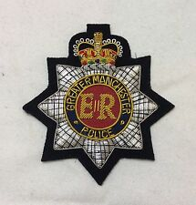 Greater Manchester Police Force Blazer Badge, Embroidered, Function, Jacket
