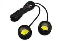 2X 12W Bright Car COB LED Round Headlight DRL Driving Daytime Running Light Lamp