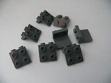 Lego 8 equerres gris fonce bluish 10227 10197 7678 / 8 dark bluish bracket