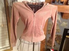 JUICY COUTURE TERRY CLOTH  ZIP UP HOODIE SIZE SMALL LIGHT BROWN
