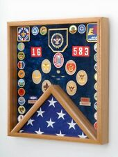 Scout Patch / Award & Flag Display Case - Boy Scout, Eagle Scout Laser Engraved