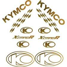 SET COMPLETO ADESIVI ORO KYMCO XCITING 250 500 300 I R  DECALS STICKERS 50 X 50