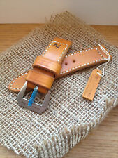 handmade vintage style watch band leather 74 strap 24mm for panerai