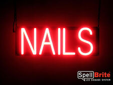 SpellBrite Ultra-Bright NAILS Sign Neon-LED Sign (Neon look, LED performance)