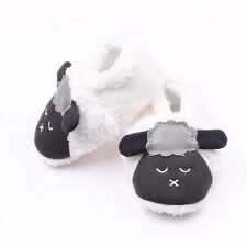 Toddler Boy Girl Baby Crawling Shoes Kids Plush Lamb Slippers Prewalker Trainers