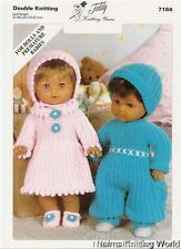 7184 Doll's & Premature Babies  Double Knitting Pattern