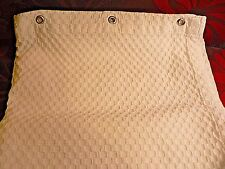 Hotel Shower Curtain Waffle Weave White Cotton Made In Turkey Nice Quality