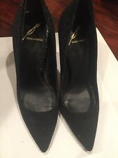 Brian Atwood Size 5 Black Glitter Shoes