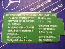 ORIGINALE Mercedes condizionatori-adesivi per r134a per w123, w126, w124, w201