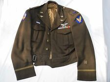 WW II PILOT Ike Jacket US ARMY 9th AIR FORCE British Custom Made NAMED OFFICER