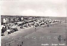 ANCONA SENIGALLIA 26 SPIAGGIA BAGNI Cartolina FOTOGRAFICA viaggiata 1958