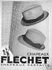 PUBLICITÉ CHAPEAUX FLÉCHET CHAPEAU PARFAIT