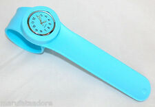 SLAP ON Silicone Rubber Fashion Bracelet Quartz Wrist Watch Adult/Kid LIGHT BLUE