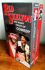 Red Skelton LOT of 2VHS-A Comedy Scrapbook-His Many Faces of Comedy FREE SHIPING