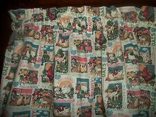 Rooster Chicken Pigs Horse Feedsack country farm kitchen fabric curtain Valance