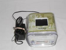 Audiovox Alarm Clock Radio iPod iPhone Charger Cube Green Battery Back Up