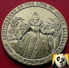 2003 SCARCE GIBRALTAR £5 Five Pound Coin 400th Anniversary of Queen Elizabeth I