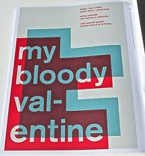 My Bloody Valentine R&R Band Mini-Concert-Poster  -Framable Artwork 13x10